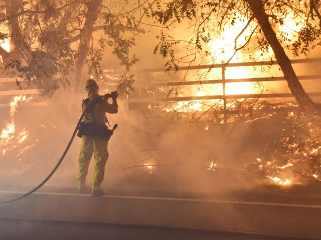 A firefighter in Santa Paula, California