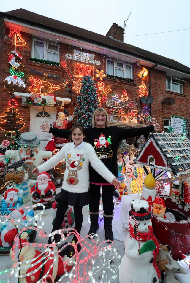 The decorations are the work of Lyn Farnes with her daughter Roni-Jo (Gareth Fuller/PA)