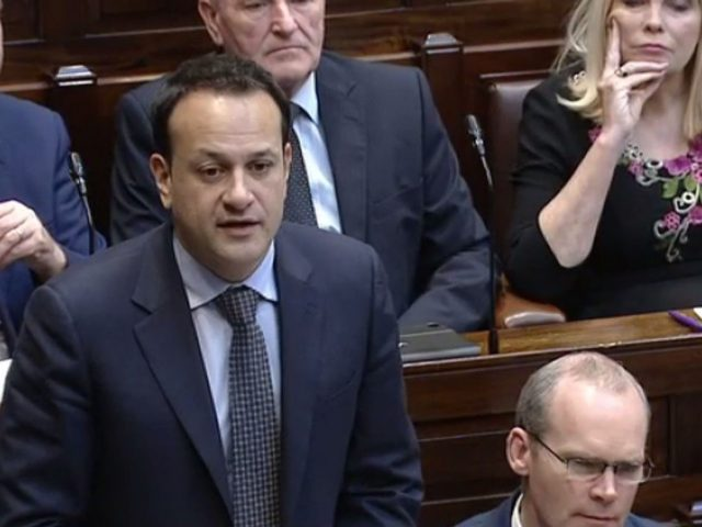 Taoiseach Leo Varadkar speaks in the Dail