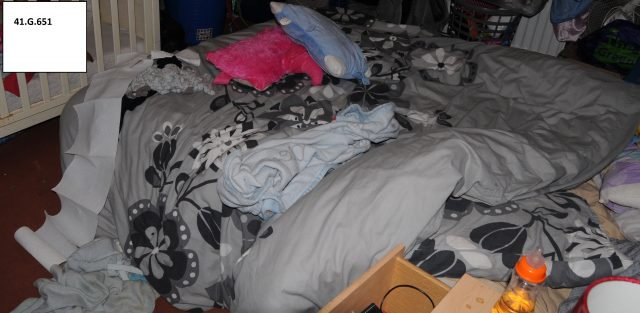 The double bed where Poppi Worthington was placed at the time of her collapse (Cumbria County Council)