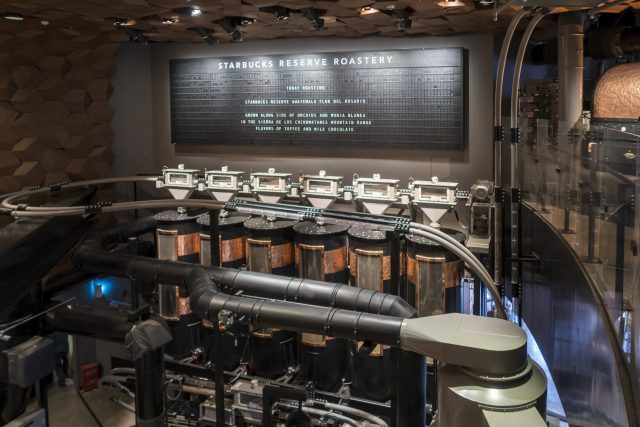 The company says it's designed to provide a 'fully immersive coffee experience' (Chinatopix via AP)
