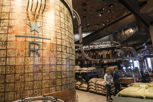 Those after sustenance are being treated to 30,000 sq ft (2,700 sq m) of coffee shop (Chinatopix via AP)
