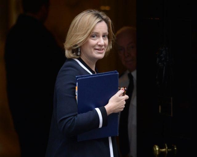 Home Secretary Amber Rudd said MI5 and police have thwarted 22 Islamist plots since 2013 (Victoria Jones/PA)