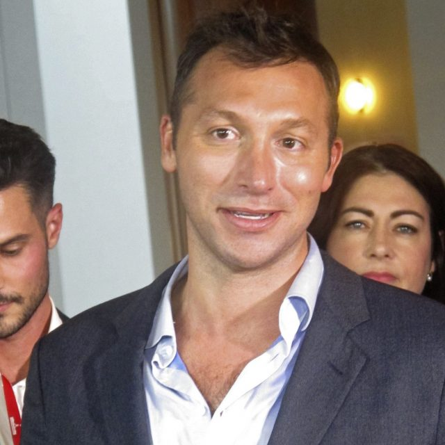 Ian Thorpe was at Parliament House to celebrate a vote allowing same-sex marriage (Rod McGuirk/AP)