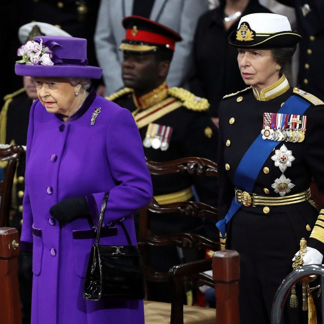 The Queen and the Princess Royal attend the ceremony (MoD/PA)