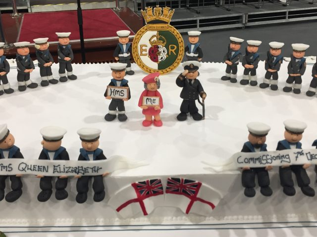 A cake marking the occasion made by Warrant Officer Jon Boreham (Ben Mitchell/PA)