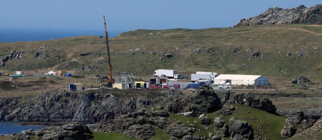 A set in Malin Head, Co Donegal, where Star Wars filming took place (Niall Carson/PA)