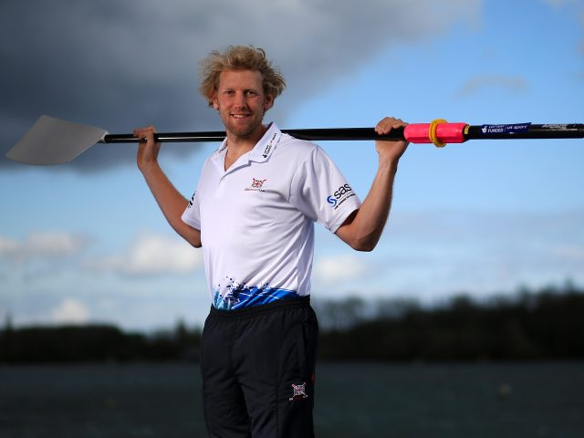 Andrew Triggs Hodge at the National Rowing Centre in Caversham (Nick Potts/PA)