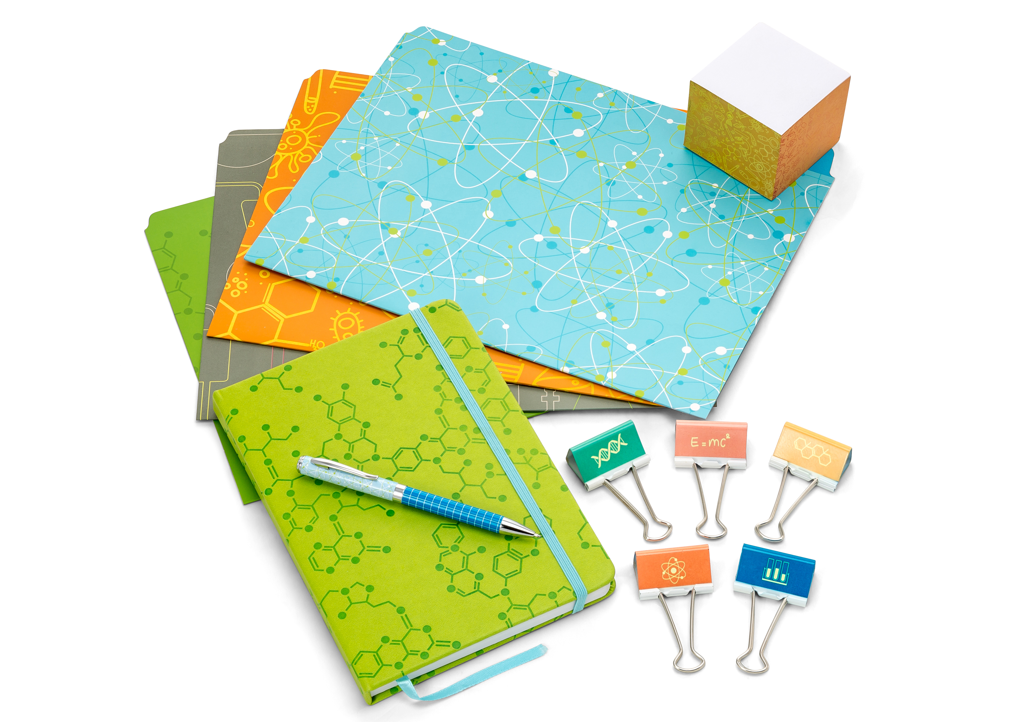 Science stationery set.
