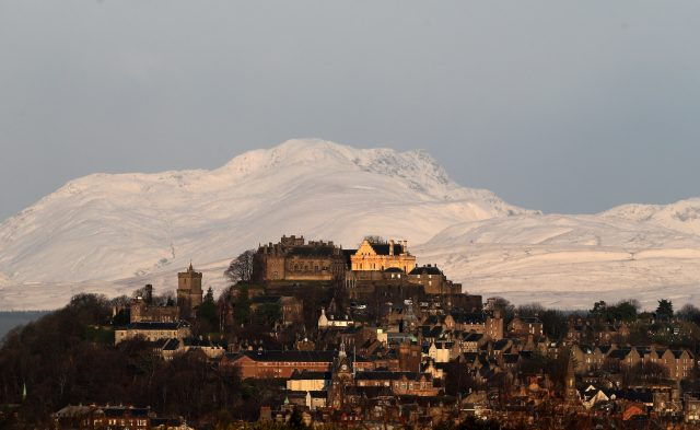 A view of Stirling Castle. (Andrew Milligan/PA)