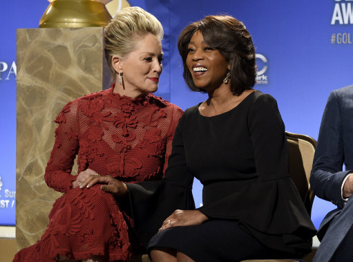 Sharon Stone and Alfre Woodard at the nominations ceremony