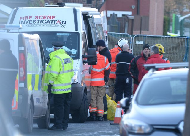 Emergency services at the scene (Peter Byrne/PA)