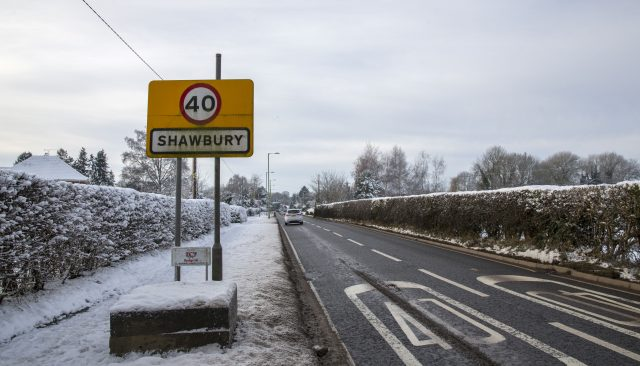 Shawbury in Shropshire, where temperatures fell to -13C (Peter Byrne/PA)