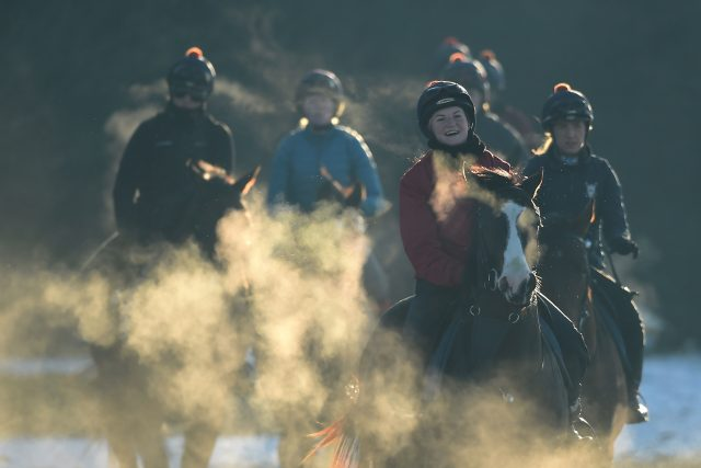 And it was a chilly gallop out at Newmarket ( Joe Giddens/PA)