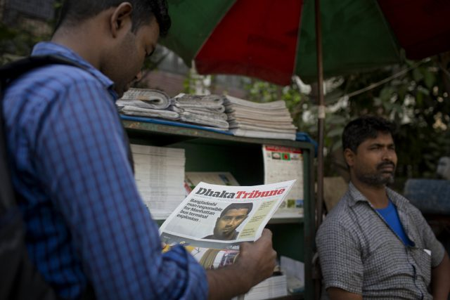 Bangladesh counterterrorism officers are questioning the wife and other relatives of Ullah (A.M. Ahad/AP)