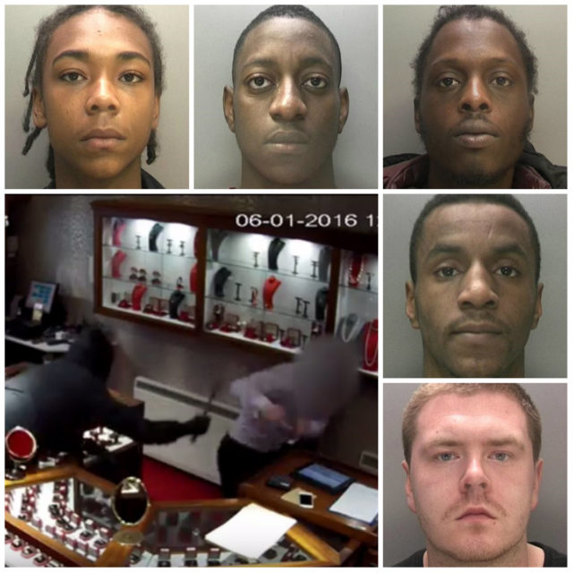 From top left: Daijon Johnson, Jamul-Pinnock-Parkes, Jermaine Davis, Owen Richardson and Bradley Devine