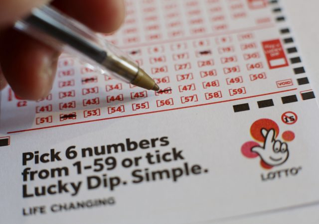 Lottery sales have fallen recently (Yui Mok/PA)