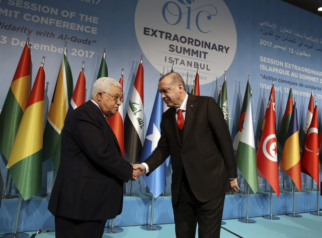 Turkey's President Recep Tayyip Erdogan, right (Yasin Bulbul/Pool Photo via AP)