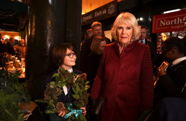 Camilla at  Borough Market (Clodagh Kilcoyne/PA)