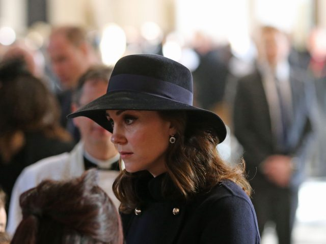 The Duchess of Cambridge leaving the service (Gareth Fuller/PA)