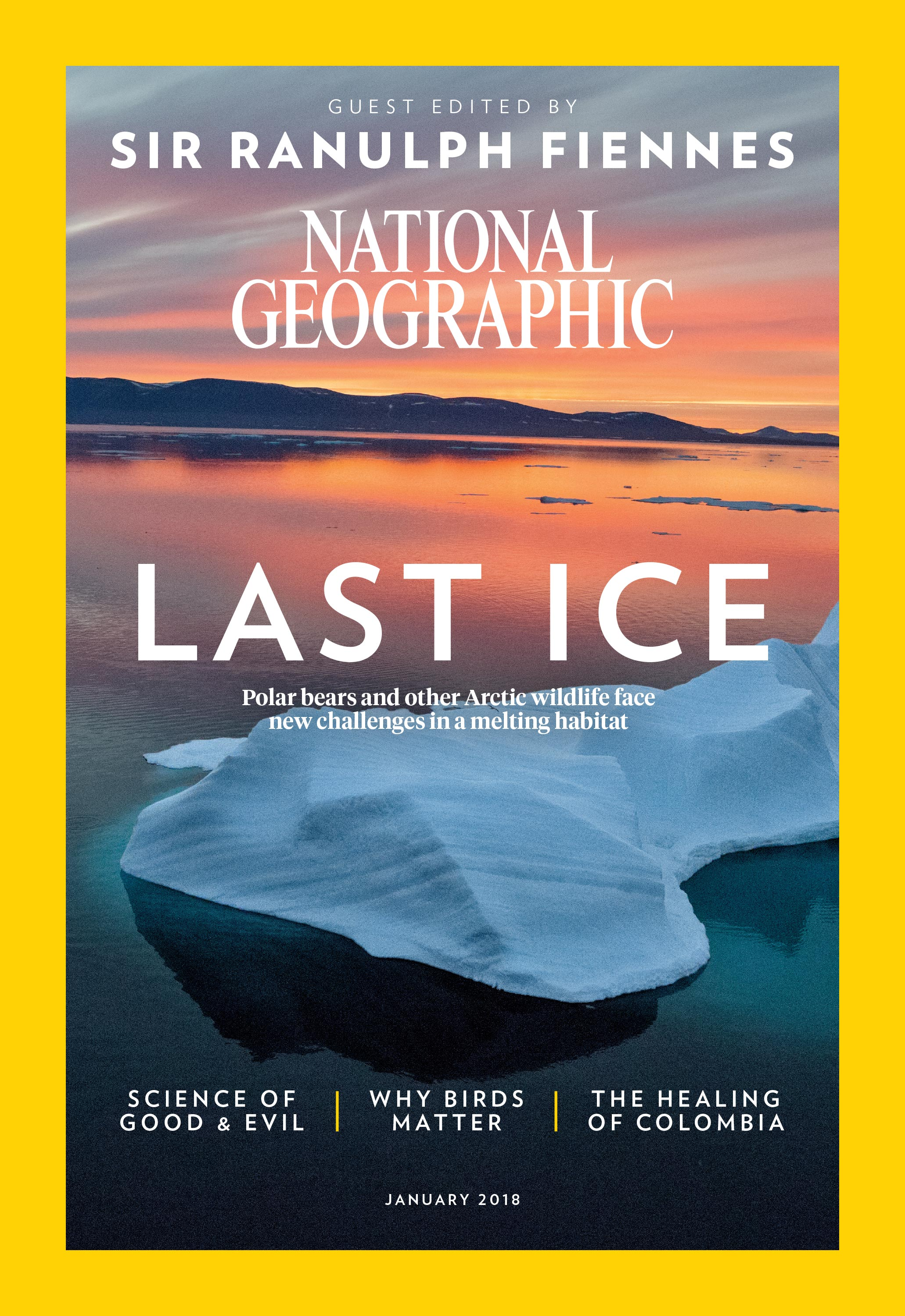 Sir Ranulph's cover (National Geographic/PA)