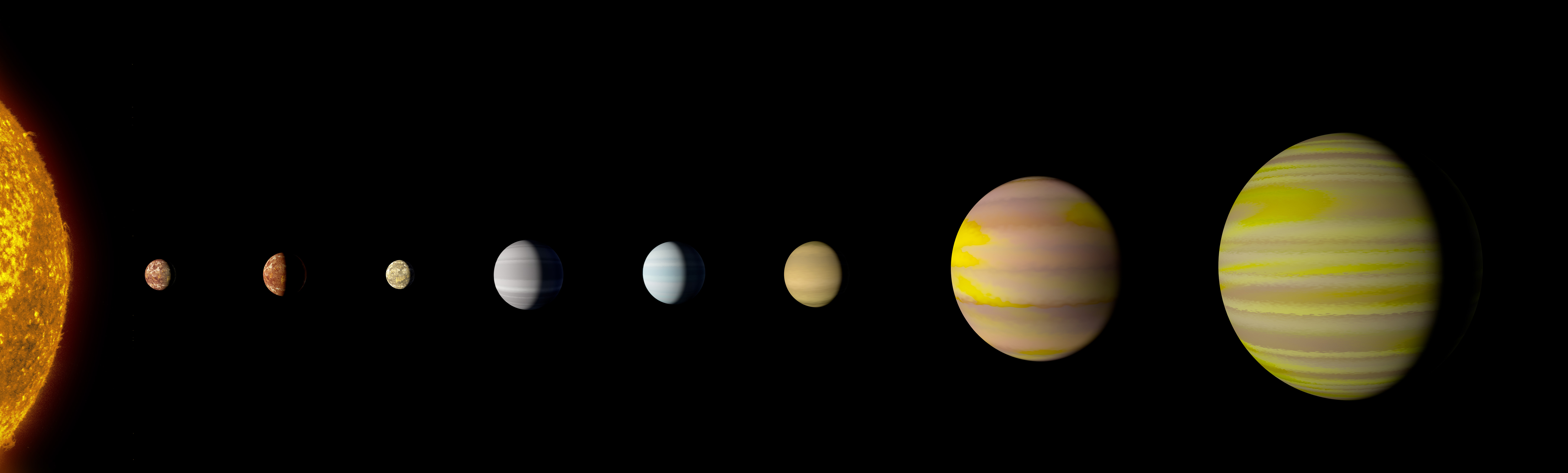 The eight-planet solar system discovered by Nasa