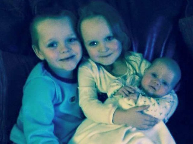 Brandon, Lacie and Lia Pearson died in the fire (Greater Manchester Police/PA)