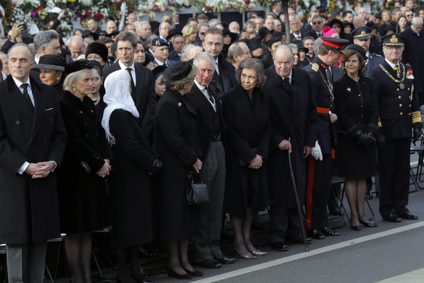 The Prince of Wales among the royals at the funeral (Vadim Ghirda/AP)