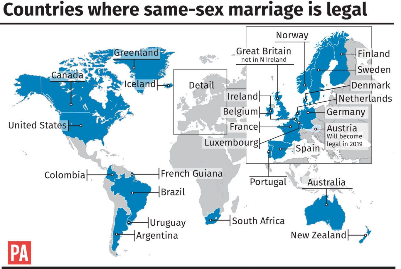 Countries where same-sex marriage is legal