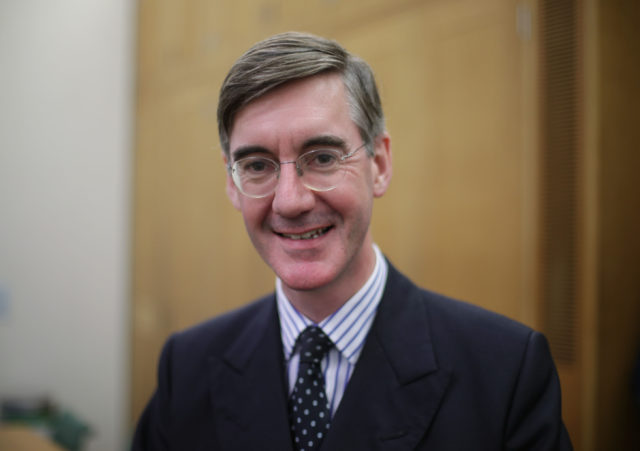 Jacob Rees-Mogg clashed with David Davis over the terms of a Brexit transition period (Yui Mok/PA)
