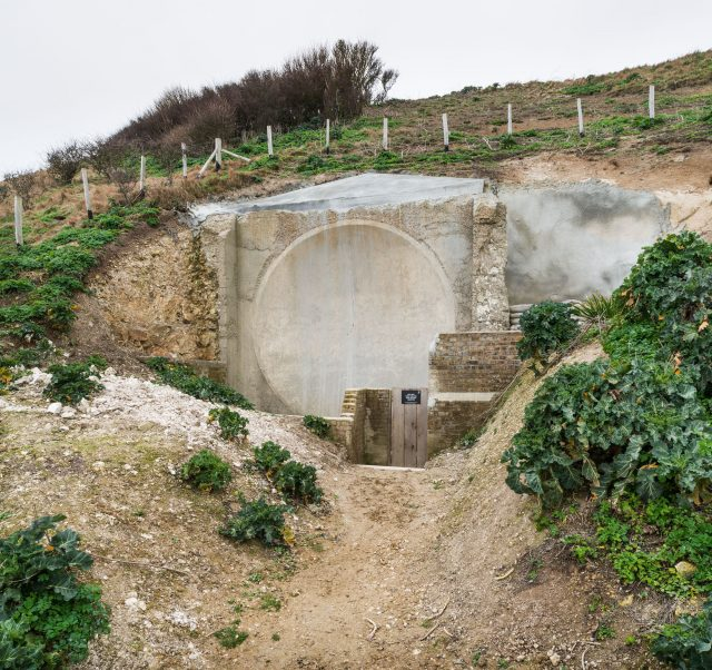 The Acoustic Mirrors, Fan Bay in Dover, Kent (Steven Baker/Historic England/PA)