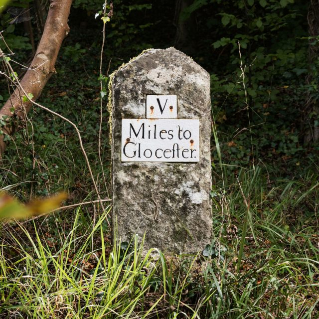 One of three milestones, on B4073 between Painswick and Gloucester, Gloucestershire (Steven Baker/Historic England/PA)