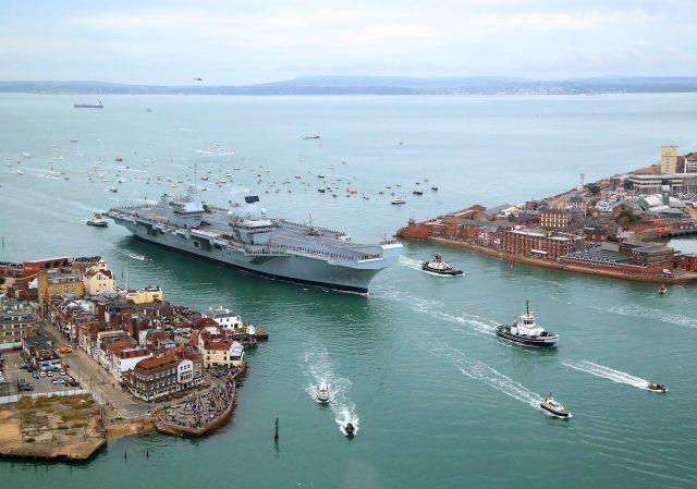 HMS Queen Elizabeth (Gareth Fuller/PA)