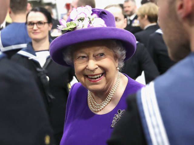 The Queen during the commissioning of HMS Queen Elizabeth earlier this month