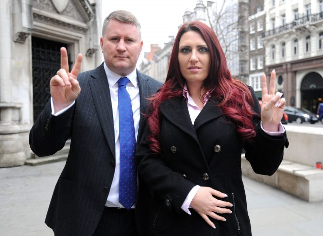 Paul Golding and Jayda Fransen of Britain First