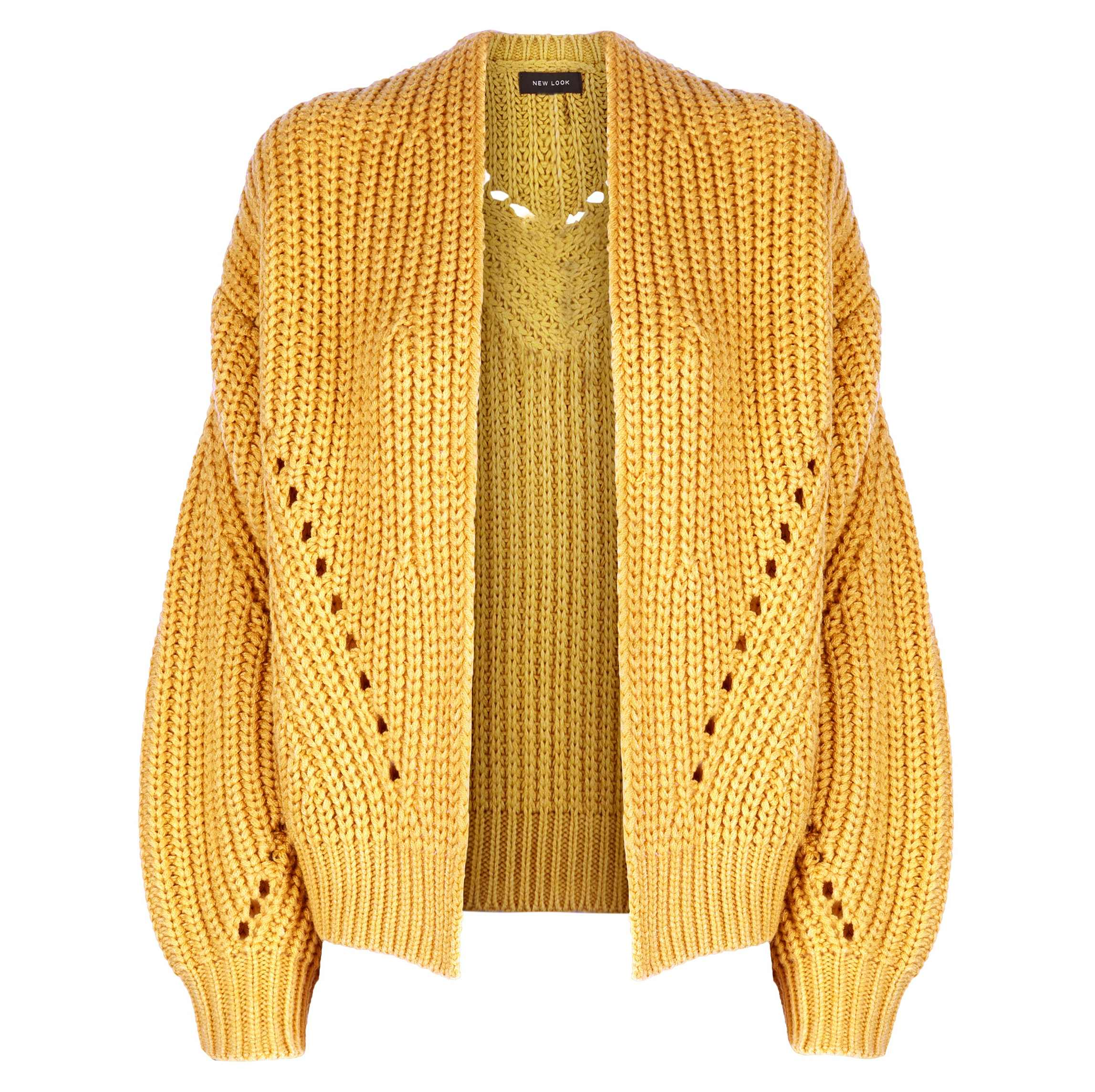 New Look Chunky Knit Mustard Cardigan