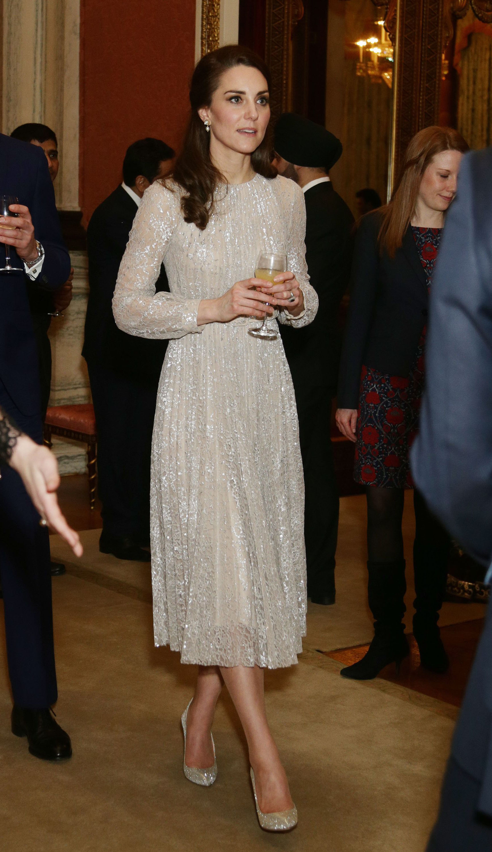 (Yui Mok/PA) The Duchess of Cambridge during a reception to mark the launch of the UK-India Year of Culture 2017 at Buckingham Palace, London.