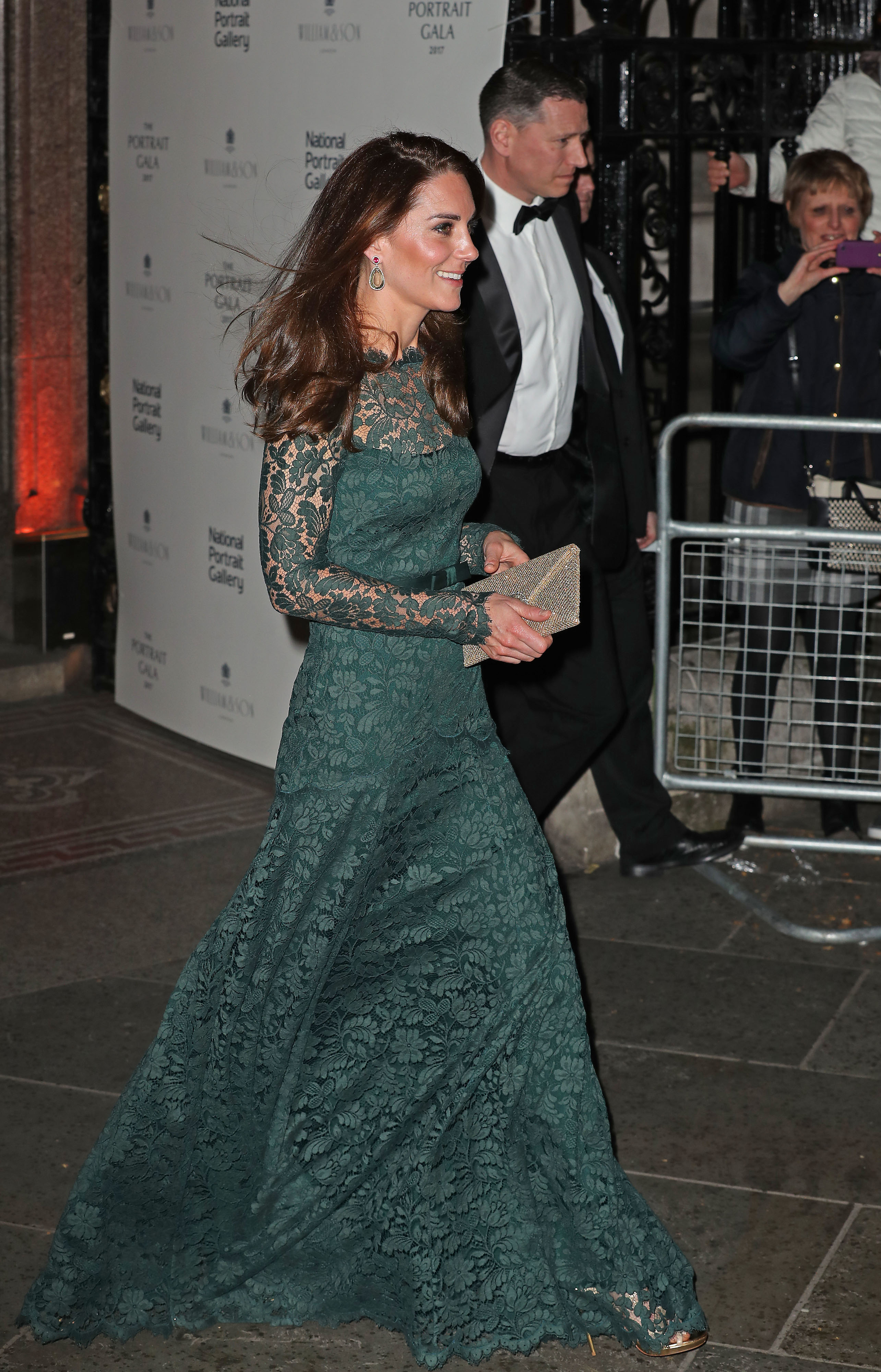The Duchess of Cambridge leaves the National Portrait Gallery in London after the 2017 Portrait Gala (Chris Radburn/PA)