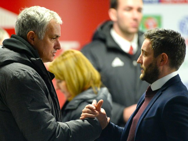 Jose Mourinho, right, and Lee Johnson