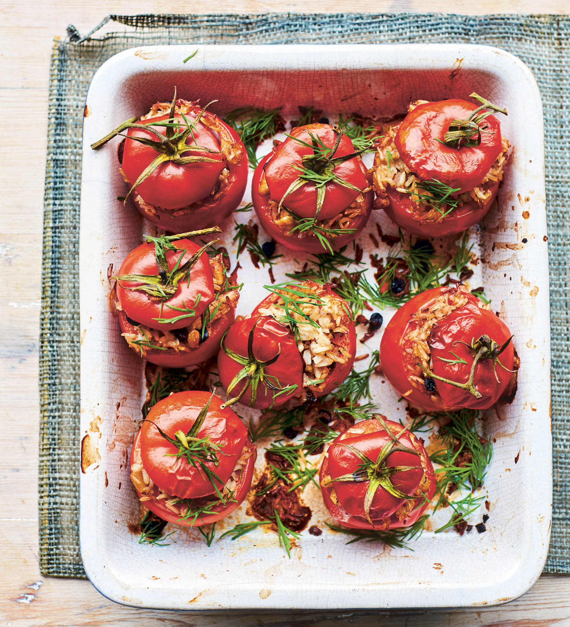 Pilaf stuffed tomatoes (Laura Edwards/PA)