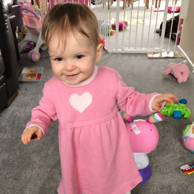 Amy takes her first steps