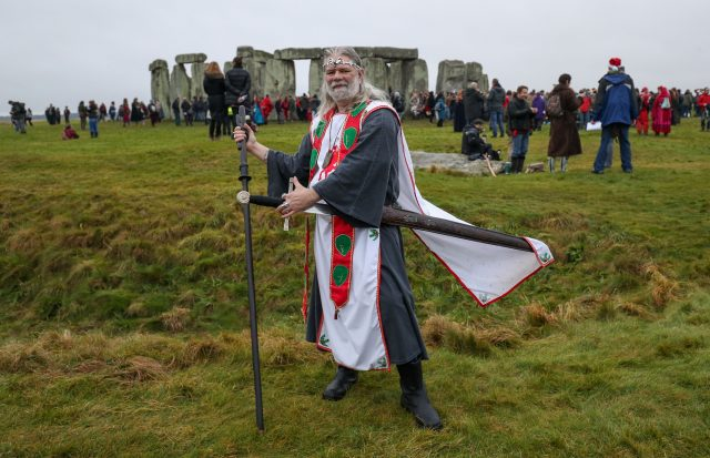 Arthur Pendragon (formerly John Rothwell), Druid and self-appointed king, at Stonehenge (Andrew Matthews/PA)