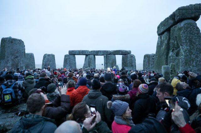 Winter solstice at Stonehenge (Andrew Matthews/PA)