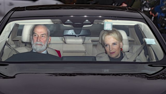 Prince and Princess Michael of Kent arriving for the Queen's Christmas lunch. (Jonathan Brady/PA)