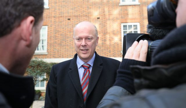 Transport Secretary Chris Grayling (Philip Toscano/PA)