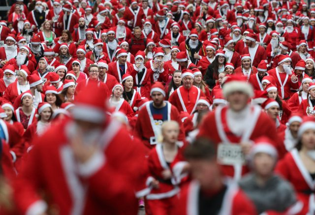 Santa needs to think about getting healthy (Andrew Milligan/PA)