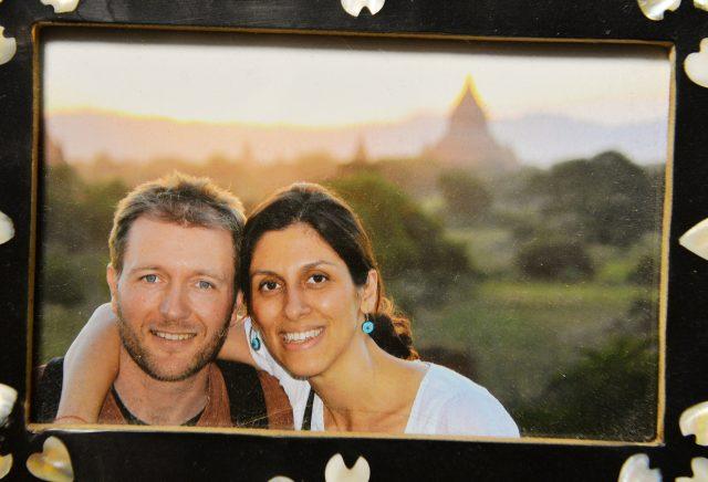 A photo of Richard Ratcliffe and his wife Nazanin Zaghari-Ratcliffe