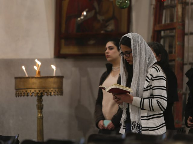 Worshippers in Bethlehem