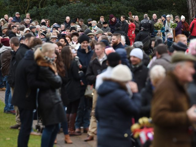 Members of the public flocked to see the royals