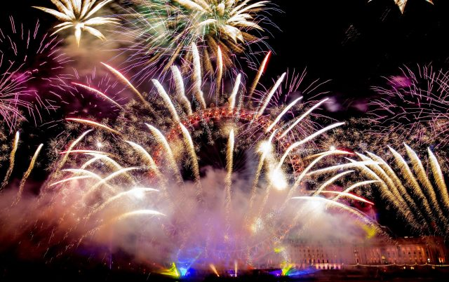 Fireworks light up the sky over the London Eye during last year's celebrations (Rick Findler/PA)